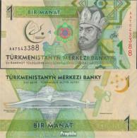 Turkmenistan Pick-Nr: 36 Bankfrisch 2017 1 Manat - Turkménistan