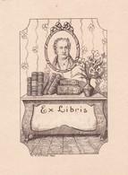 EX LIBRIS, JOHANN WOLFGANG VON GOETHE, POET POETE POETA. M V ATTEMS 1924. LAMINA SIZE: 8.5X11.5CM -LILHU - Ex-libris
