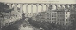 MORLAIX  --  Panorama Du Viaduc Pris De L'Hôtel De Ville ( CARTE - LETTRE - 28 X 11 Cm ) - Morlaix