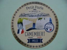 Etiquette Camembert - Petit Paris Mild - Fromagerie Anonyme Normandie Export - France  A Voir ! - Cheese