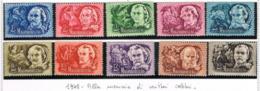 UNGHERIA (HUNGARY)  -  SG  1038.1047   -  1948  WRITERS (COMLET SET OF 10) -  UNUSED* -  RIF.CP - Nuovi