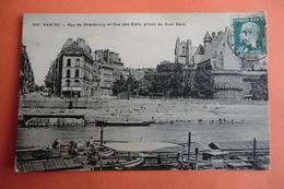 CPA 44 LOIRE ATLANTIQUE NANTES. Rue De Strasbourg Et Rue Des états, Prises Du Quai Baco. - Nantes