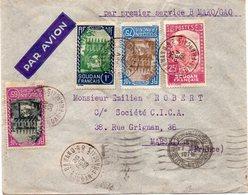 "SOUDAN : PA . 1er SERVICE . "" BAMAKO GAO "" . POUR MARSEILLE . 1938 . - Soudan (1894-1902)"