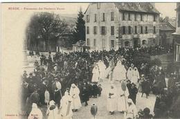 LOZERE : Mende, Procession Des Pénitents Blancs Devant L'Hotel De Ville, Carte Pas Courante... - Mende
