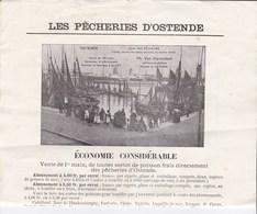 Les Pêcheries D' Ostende .   Ph.Van Stuyvendael Minque 37. Bureau à Alost - Documents Historiques