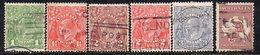 APR2301 - AUSTRALIA , Cinque Valori Con Fil V + Yvert N. 85A  Usati  (2380A) - 1913-36 George V: Heads