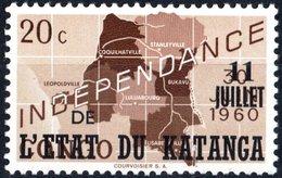 KATANGA, INDIPENDENZA, 1960, 20 C., FRANCOBOLLO NUOVO (MNH**)  Mi:KT 40, Scott:KT 40, Yt:KT 40 - Katanga