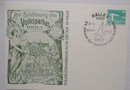Volkspark Halle DDR Privatganzsache (476) - DDR