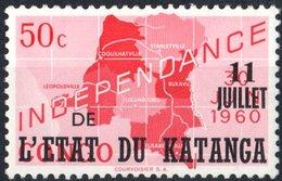KATANGA, INDIPENDENZA, 1960, 50 C., FRANCOBOLLO NUOVO (MNH**)  Mi:KT 41, Scott:KT 41, Yt:KT 41 - Katanga