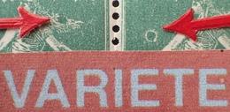 R1189/595 - 1922 - TYPE SEMEUSE CAMEE - PAIRE NEUVE** - N°159 (III) VARIETES ➤➤➤ Tache Dans La Chevelure + Anneau Lune - Variétés: 1921-30 Neufs