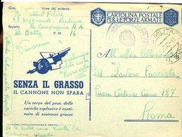 SP23 ANNULLLO POSTA MILITARE 3100 .CARTOLINA IN  FRANCHIGIA  ,1942 - Correo Militar (PM)