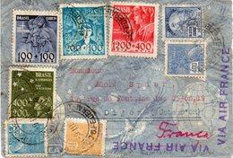 BRÉSIL :PA . VIA AIR FRANCE . POUR LA FRANCE . 1935/40 . - Brésil