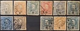 PORTUGAL - Canceled - Sc# 110, 111, 116, 117, 118, 120, 124, 127, - 1910 : D.Manuel II
