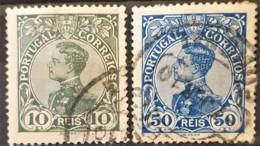 PORTUGAL - Canceled - Sc# 158, 162 - 10r 50r - 1910 : D.Manuel II