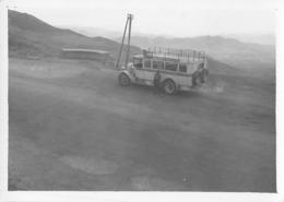MAROC / Photo Originale  - Autocar à L'arrêt - Format 87 X 62 Mm - Automobiles