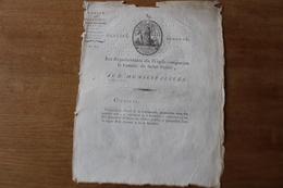 Rare Doc Révolutionnaire Fin Des Fleurs De LYS Destruction  1794 - Historical Documents