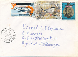 BENIN / DAHOMEY / OUIDAH  -  1991 ,  Martin Luther King , ...  -  Brief Nach Stuttgart - Benin - Dahomey (1960-...)