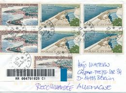 COTE D'IVOIRE / ADIAKE -  2013  ,  R-Brief Nach Berlin - Côte D'Ivoire (1960-...)