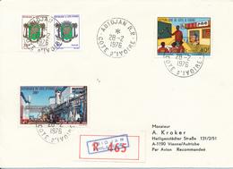 COTE D'IVOIRE / ABIDJAN  -  1976  ,  R-Brief Nach Wien - Côte D'Ivoire (1960-...)