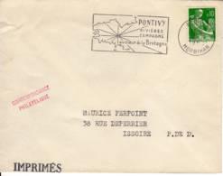"PONTIVY MORBIHAN  Secap ""rivieres Campagne Au Coeur De La Bretagne"" 1963 - Postmark Collection (Covers)"