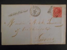 Italie Afrique , Lettre De Tunisi Poste Italianne 1873 Pour Livorno - Eastern Africa