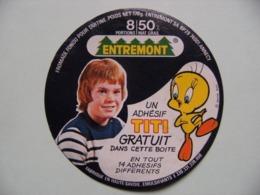 """Etiquette Fromage Fondu - ENTREMONT - 8 Portions Pub """"TITI&Gros Minet"""" 74 Annecy - Hte-Savoie  A Voir ! - Fromage"""