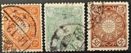 JAPAN 1899/1907 - Canceled - Sc# 105-107 - Japan