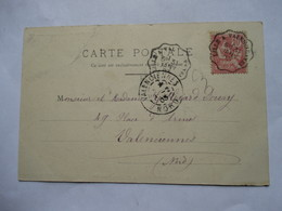 CONVOYEUR   LILLE  A  VALENCIENNES    -      ....        TTB - Railway Post