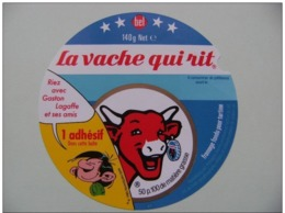 """Etiquette Fromage Fondu - Vache Qui Rit - Portion 140g Bel Pub """"Gaston Lagaffe Et Ses Amis"""" Franquin/Sepp   A Voir ! - Cheese"""