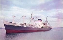 Ansichtskarte  Schiff Ship RMS ROTHESAY CASTLE RW Union Castle Line 1960 - Non Classificati