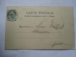 CONVOYEUR    LA VOULTE  A  ROBIAC    -     ARTISTE  LECOMTE       ....        TTB - Marcophilie (Lettres)