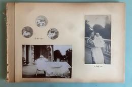 BEL ALBUM DE 57 PHOTOGRAPHIES ENFANTS BEBE MONTAGE PHOTO FANTAISIE MISE EN SCENE LANDAU HUMOUR FANTAISIE BABY CHILD 1900 - Collections, Lots & Séries