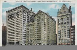 Etat-Unis, ILLINOIS, Athletic Club, Monroe Building And University Club, CHICAGO, IL., Scan Recto Verso - Chicago