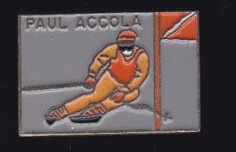 61184 - Pin's-Paul Accola.ancien Skieur Alpin Suisse. - Wintersport