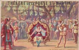 THEATRE DE LA PORTE St MARTIN. LA FORET DES SYCOMORES. DATE CAFFEE. FRANCE PUBLICITE SUR LE CAFE, CIRCA 1930's -LILHU - Publicités