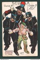 Carabinieri Humor Illustrata VanDock Cpa 1911 Eccitamento All'odio Fra Le Classi - Humorísticas