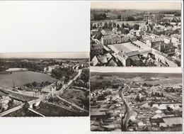 3 CPSM: PARGNY SUR SAULX (51) PLACE HÔTEL DE VILLE,ÉCLUSE SUR LE CANAL MARNE AU RHIN,VUE - Pargny Sur Saulx