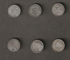 5 Pièces De 20 CENT Napoléon III  - 1867  France, Empereur Tête Laurée Grand Module, En Argent  - Ref, 26 - France