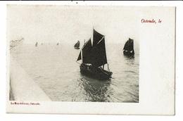 CPA Carte Postale Belgique Ostende Voiliers De Pêcheurs En Mer Au Début 1900 VM12015 - Oostende