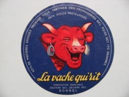 """Etiquette Fromage Fondu - La Vache Qui Rit - Portion 170g Fromageries Bel Pub """"BONBEL"""" D'après Benjamin Rabier  A Voir ! - Cheese"""