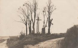 CARTE PHOTO:RIPONT (51) CALVAIRE GUERRE 1914-18..ÉCRITE - Francia