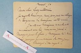 Lionel Aristide LECOUTEUX Graveur Peintre Sculpteur Né Le Mans à Laguillermie - Gravure Maignan Carte Lettre Autographe - Autographes