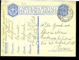 SP37  UFFICIO .POSTA MILITARE 99 BIS    CARTOLINA IN  FRANCHIGIA   ,1941 - Posta Militare (PM)