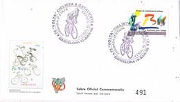 35561. Carta BARCELONA 1996. 76 Volta Ciclista Cataluña. Oficial Numerada. Ciclismo - 1931-Hoy: 2ª República - ... Juan Carlos I