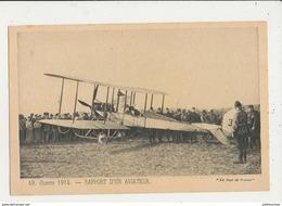 GUERRE 1914 15 RAPPORT D UN AVIATEUR CPA BON ETAT - 1914-1918: 1ère Guerre