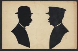 ZWEI MANNER * DEUX HOMMES * TWEE MANNEN * DECOUPEES * POSTKARTE - Silhouettes
