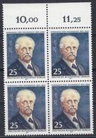 BERLIN  401, 4erBlock, Postfrisch **, Hermann Von Helmholtz 1971 - [5] Berlijn