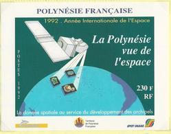 Polynésie-1992-Année Internationale De L'Espace - Blocks & Kleinbögen