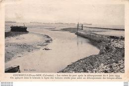 COURSEULLES SUR MER - Les Ruines Du Port Après Le Débarquement Du 6 Juin 1944 - Très Bon état - Courseulles-sur-Mer