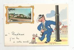 Cp,86 , à QUEAUX J'ai Bu à Votre Santé , Illustrateur Jean De Freissac,vierge - France